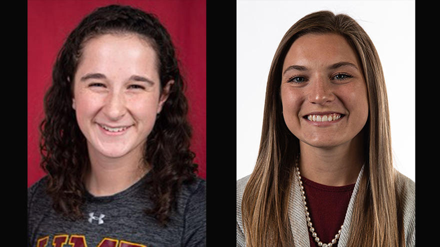 UMD Darland All-American Scholarship recipients Natalie Cahill and Jade Hipp
