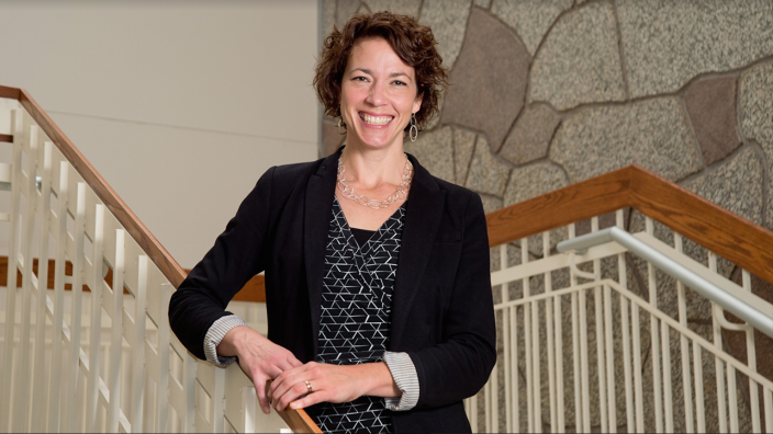 Emily Larson receives the CEHSP Distinguished Alumni Award