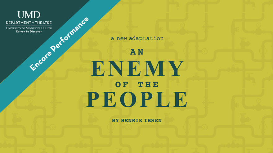 """UMD School of Fine Arts Theatre poster for """"An Enemy of the People"""""""