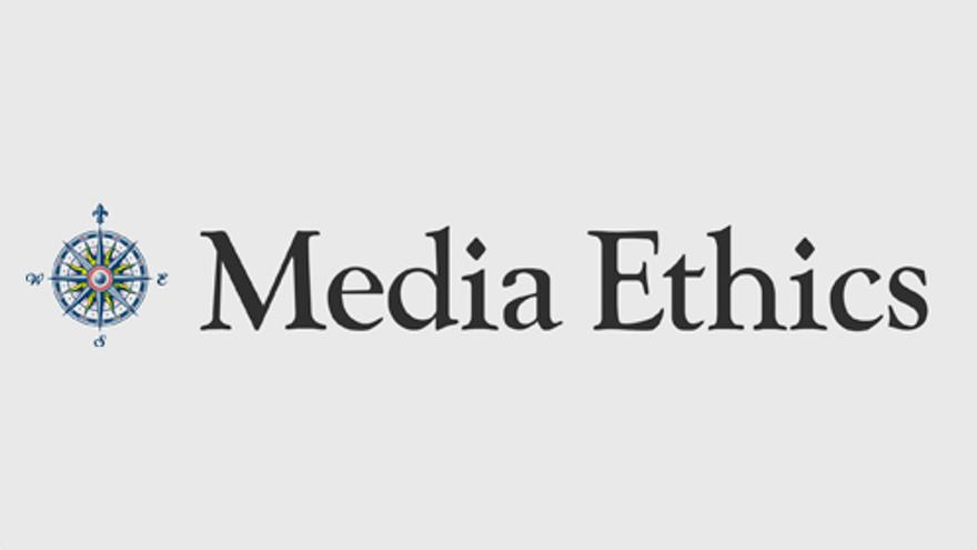 Words Media Ethics with compass logo