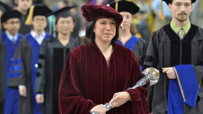 Faculty process during the 2014 Commencement ceremonies.