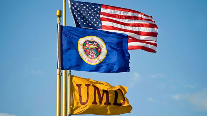 Flags on UMD campus