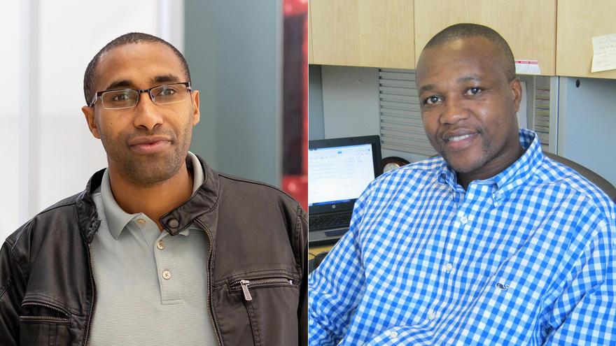 UMD faculty members Gibson Nene, Ph.D., and Melaku Abegaz, Ph.D