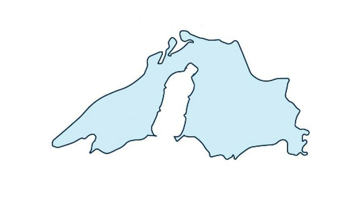 Drawing of Lake Superior