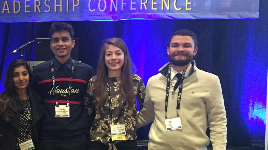 Four UMD students who attended IMA Student Leadership Conference.