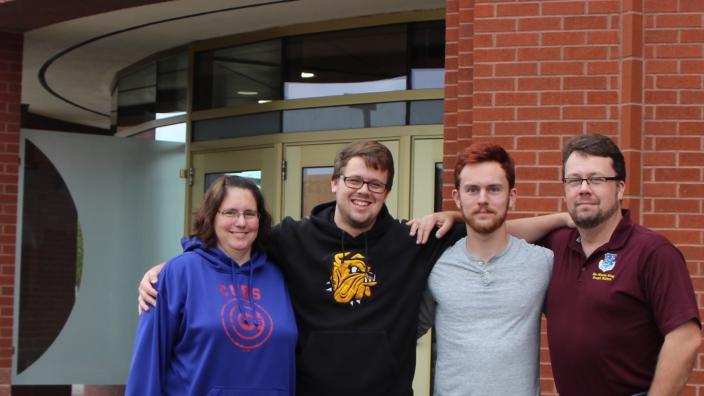 The Larsons: Gretchen, Chris, Jacob G., and Erik