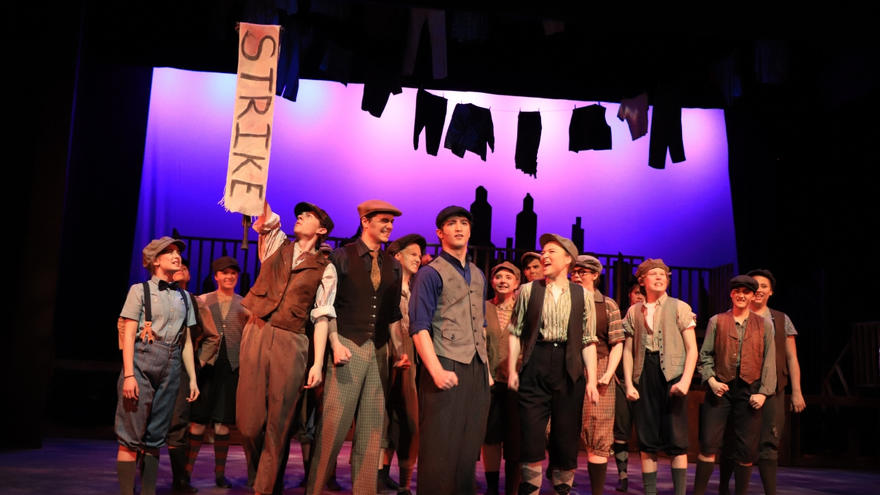 UMD Bulldog Lane Greer staring in the Duluth Playhouse's Newsies