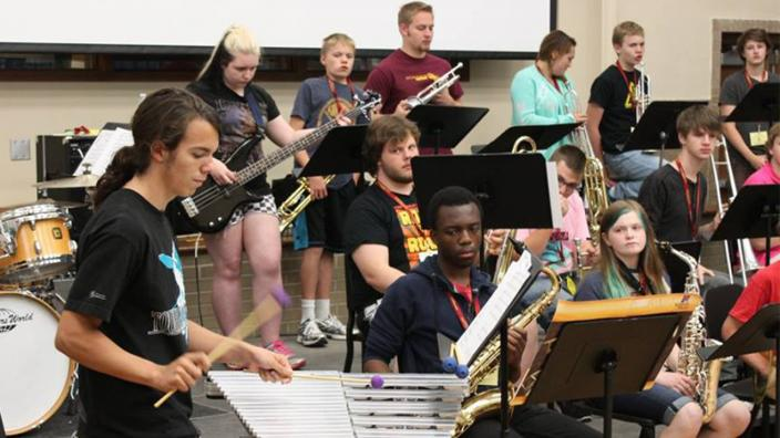North Shore Summer Music Experience campers rehearsing