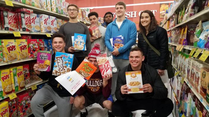 UMD Athletes learn about cereal nutrition