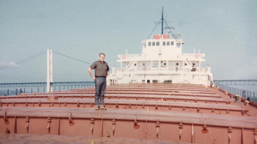 Archie Vomachka on the Cason J. Calloway Ore Boat
