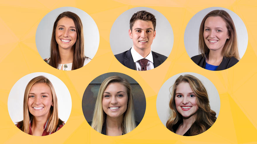 Faces of six LSBE students