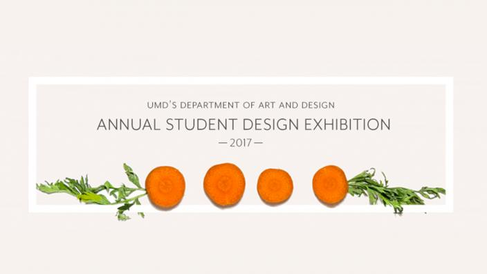 Student Design poster featuring carrots