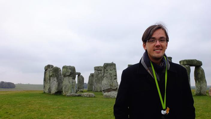 UMD student Bryce Remple studied abroad in England