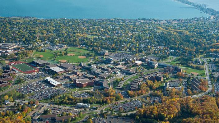 Areal shot of UMD's campus