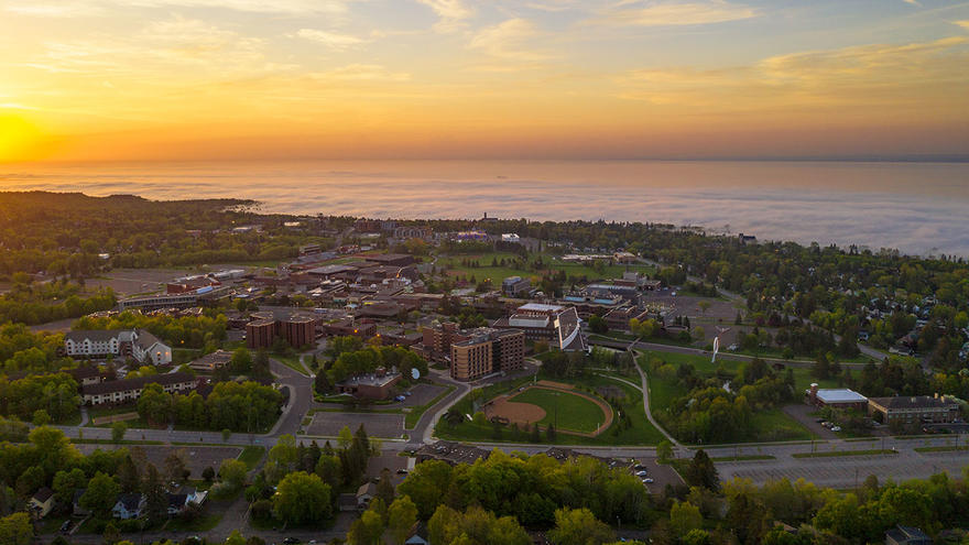 University of Minnesota Duluth at sunrise