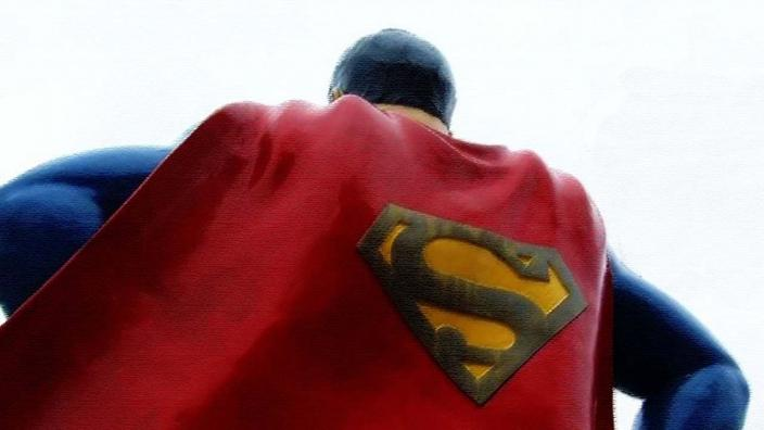 An artistic image of Superman