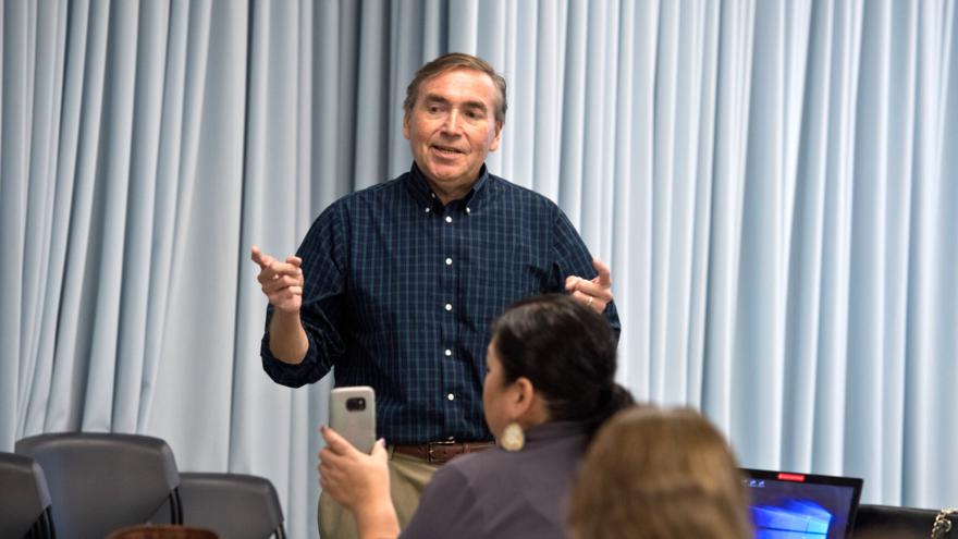 UMD's Tadd Johnson teaching an MTAG class