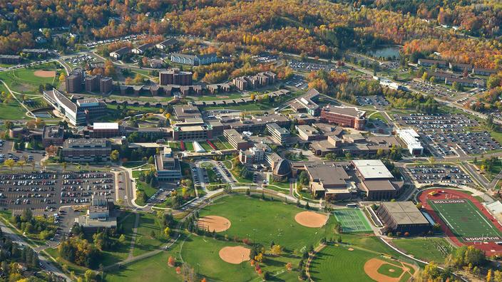 UMD aerial shot of campus