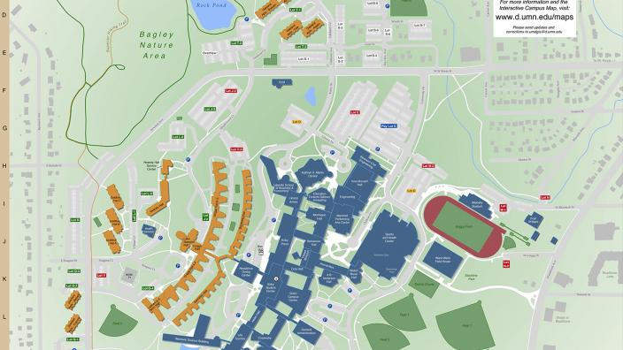 umd duluth campus map Campus Wall Maps News Umn Duluth umd duluth campus map