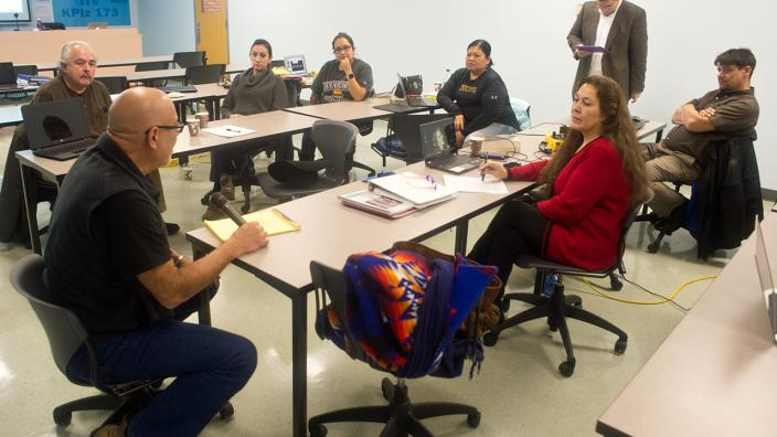 UMD's MTAG classroom with students