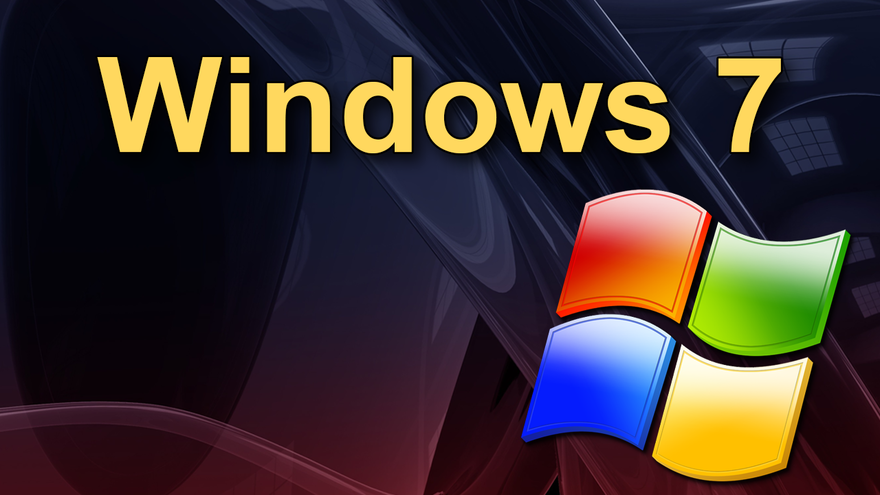 The words Windows 7 with Windows icon