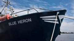 The Blue Heron research vessel