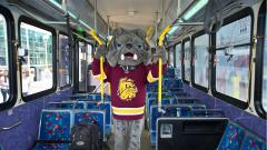 Champ on a DTA bus