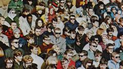 UMD fans at a football game in 1968