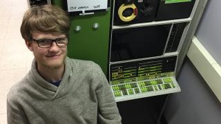 Dawson Rosell spent the summer of 2017 working on the restoration of the PDP-12