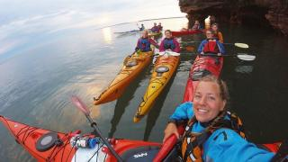 UMD freshmen take a kayaking trip in Lake Superior