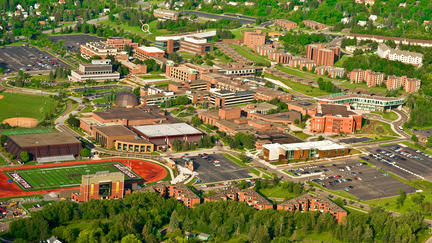 Aeial shot of the University of Minnesota Duluth campus