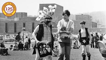 1973 Young dancers at Anishinaabe week