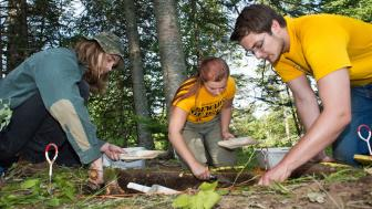 Students dig for ancient artifacts