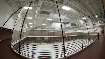 Newly renovated ice rink at UMD