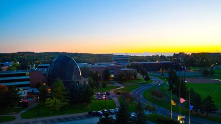 Sunset view of UMD campus