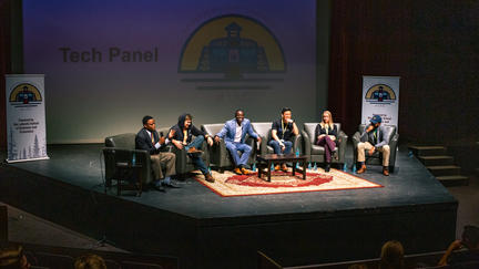 Panel discussion at the 2018 UMD Entrepreneurial conference