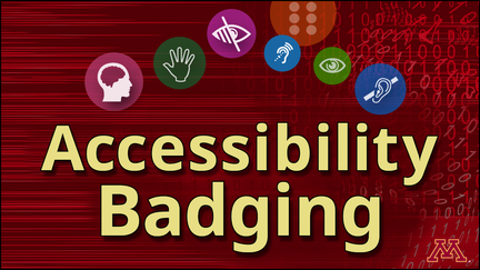 The words Accessibily Badging