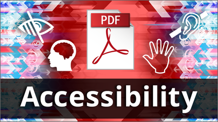 PDF symbol and the word Accessibility