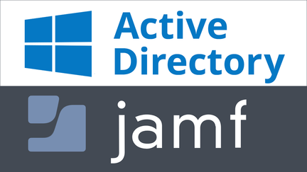 "The words ""active directory"" and ""Jamf"""