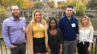 UMD student Adam Reinhardt with other attendees of Flint Water Conference
