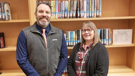 UMD Library Staff Adam Brisk and Kay Westergren