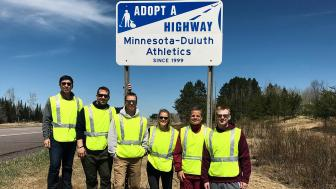UMD staff volunteer with Adopt a Highway