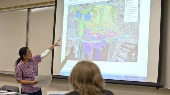 Professor Aparna Katre teaching her Cultural Entrepreneurship students