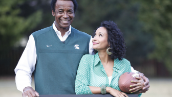 "Gene Washington and Maya Washington from the film,  ""Through the Banks of the Red Cedar"""