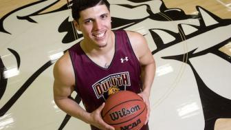 Photo of Brendon Pineda on basketball court