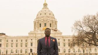 UMD Student Association President Mike Kenyanya at the Capital