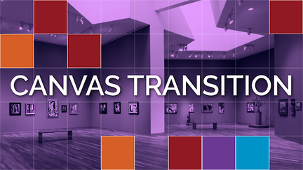 "Purple colored gallery image with the words ""Canvas Transition"" laid over it."