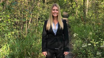UMD alumna Carlie Lalone