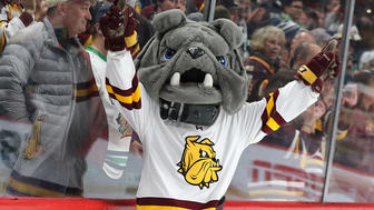UMD mascot Champ the Bulldog