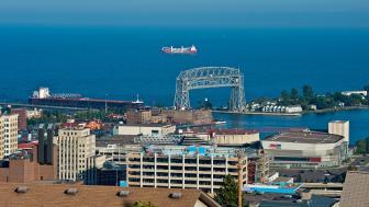 Duluth harbor and lift bridge